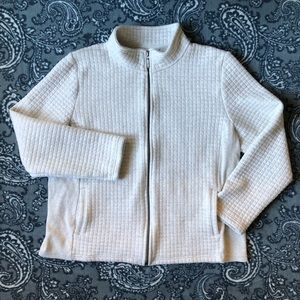 Quilted zip-up sweater/jacket - size XL